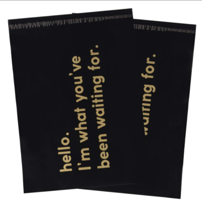 Mailers Shipping Bags Business Text Printed Black Mailers Heavy Duty Self Seal Biodegradable Mailing Envelopes