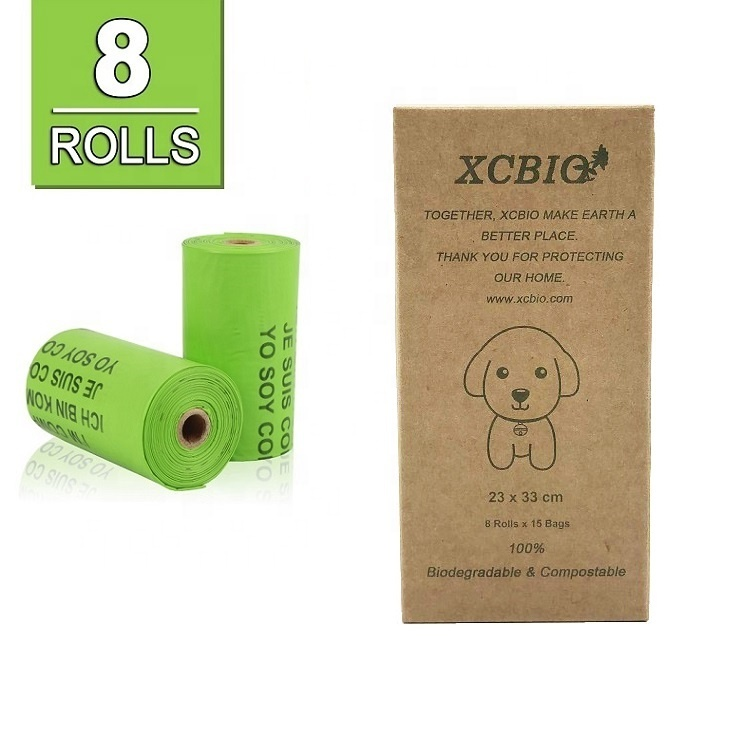Biodegradable Compostable Disposable Eco Friendly PLA Dog Poop Pet Waste Bags With Cute Boxes
