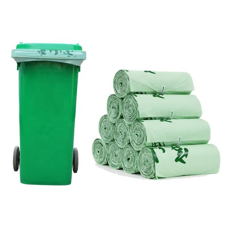 100% biodegradable garbage trash bag compostable garbage bags plant base biodegradable bags