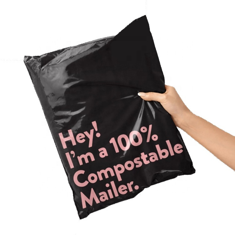 Eco-friendly Courier Bags Corn Starch Mailing Bag Custom Logo Compostable 100% Biodegradable Shipping Mailer Bag